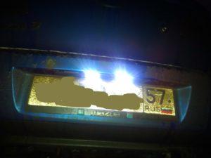Штраф за отсутствие подсветки заднего номера
