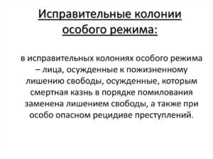 Сколько колоний особого режима в россии