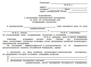 Как написать заявление в суд на оспаривание отцовства в белорусии