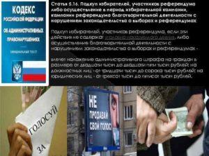Подкуп избирателей статья ук рф