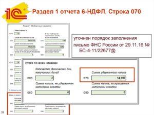 Письмо в налоговую 6 ндфл расхождение строки 70 строки140