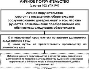 Образец текста поручительства в полицию