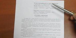 Письменная позиция истца по гражданскому делу образец