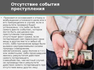 Событие и состав уголовного преступления разница