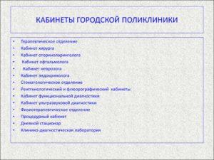 Документация кабинета невролога поликлиники