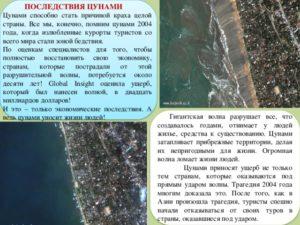 Мероприятие по ликвидации последствий цунами кратко