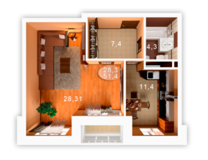 Сколько метров должна быть однокомнатная квартира для одного человека
