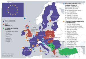 Страны которые входят в евросоюз список 2019