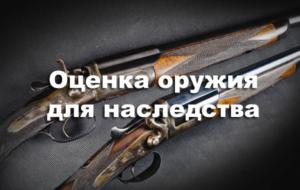 Отчет об оценке охотничьего ружья пример