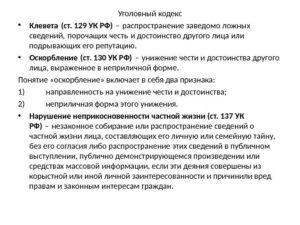 Клевета статья 130 ук рф 2019 с комментариями