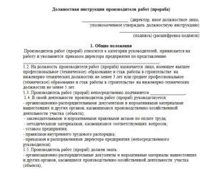 Должностная инструкция начальника службы внутреннего контроля автотранспорта