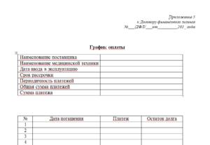 Дополнительное соглашение график платежей по договору купли продажи образец