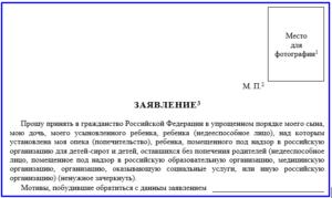 Форма заявление на носителя русского языка образец заполнения 2018