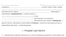 Договор аренды домена у физического лица