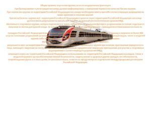 Правила транспортировки оружия в поезде