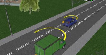 Разворот на дороге с реверсивным движением