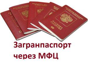 Как получить загранпаспорт в красногорске через мфц