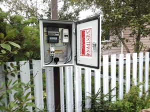 Вынос счетчика электроэнергии на улицу